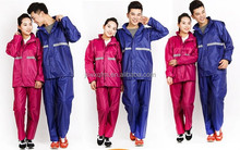170t 0.18mm polyester/pvc raincoat