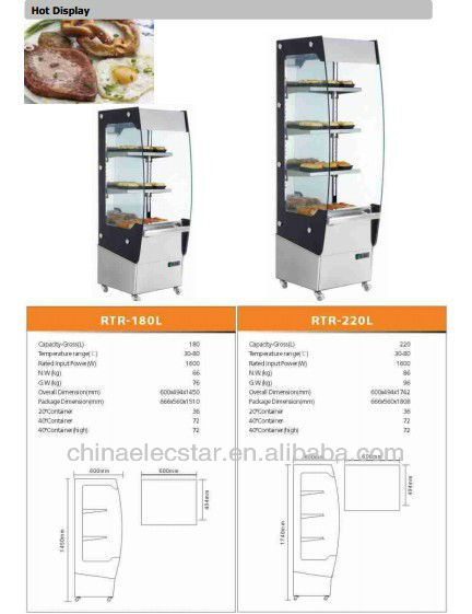 Hot food display counter,  , bread bakery warmer