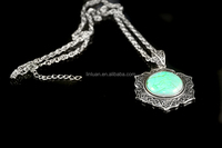Foreign trade women silver geometric pendant necklace wholesale