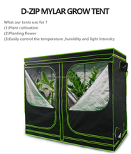Heavy Duty 240x120x200cm Mylar Plant Grow Tent/Growbox for Hydroponics System