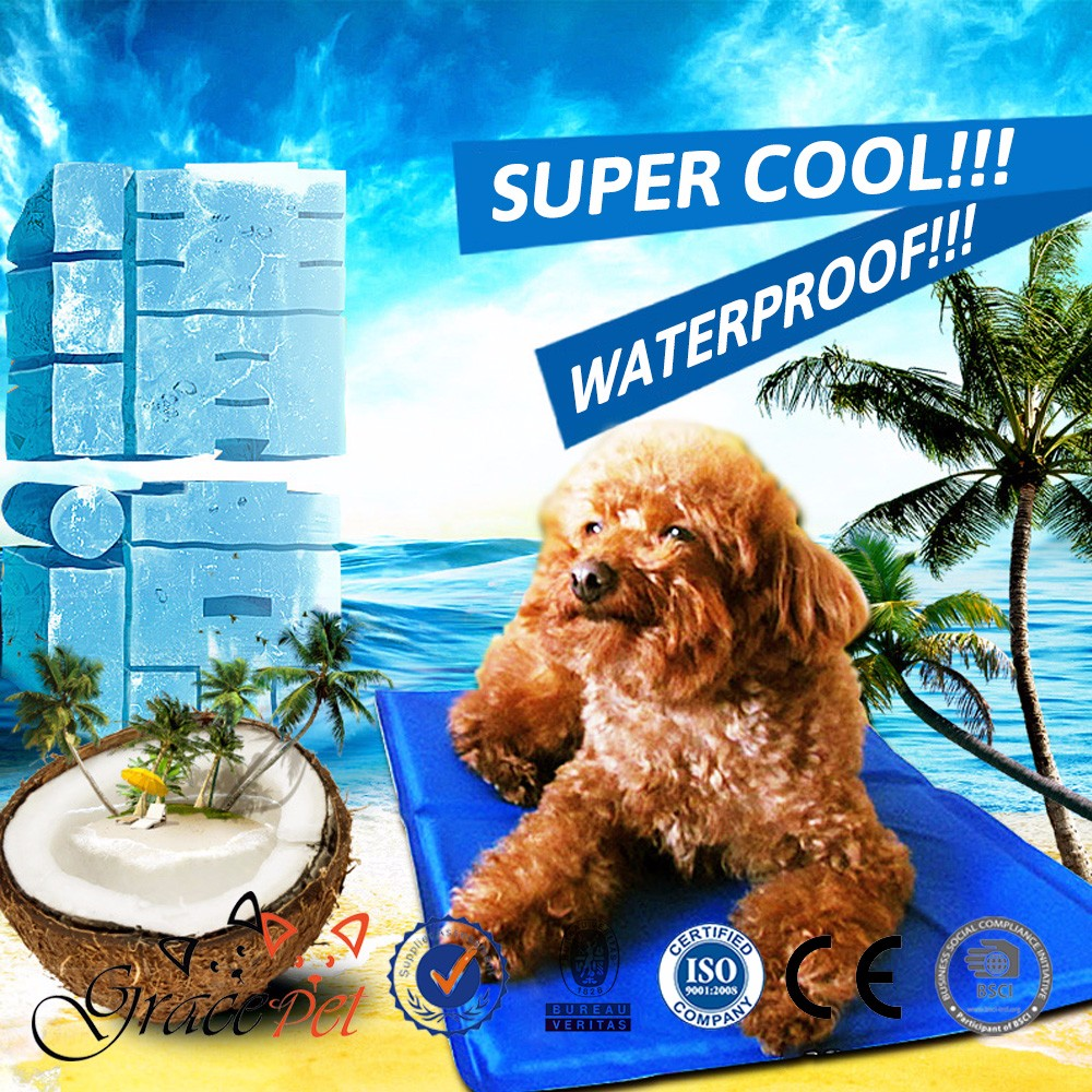 custom logo Cooling Mat Dog Summer Sleeping Cooler Bed