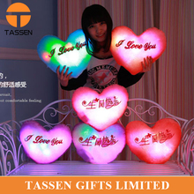 Promotion led heart pillow lucy led pillow valentine heart pillow wedding led pillow