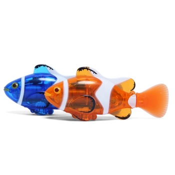 EN71 electric summer swimming fish toy rc clown fish remote control fish for kids