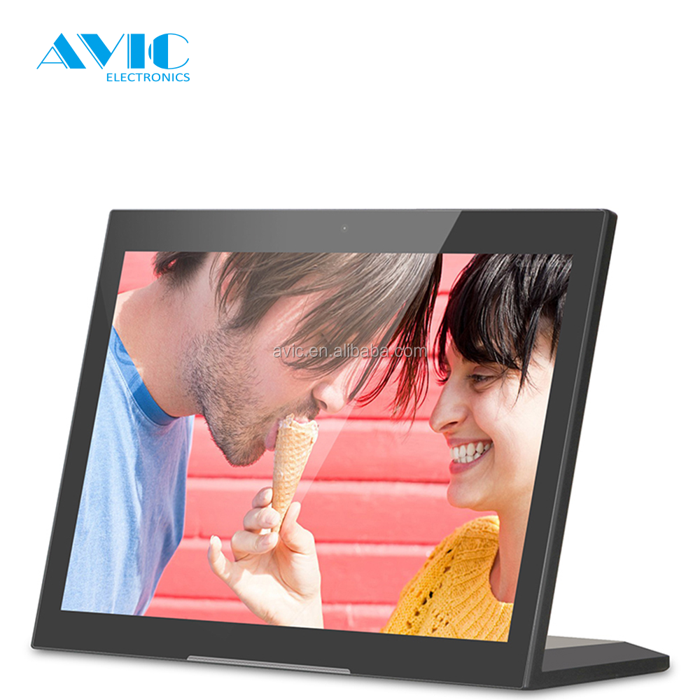 happy birthday download photos 10 inch inch IPS Panel intreactive digital video player for banks signage