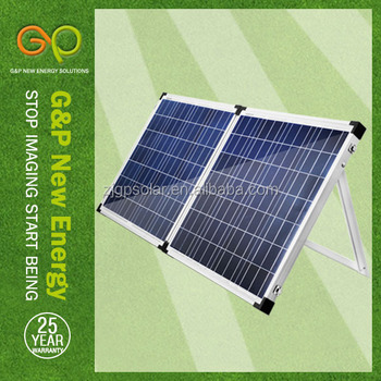 100w polycrystalline camping foldable solar panel with 5m cable