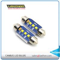 Festoon base 3 SMD 36mm 39MM 42MM 14.5V IC digital led license plate light canbus led bulbs