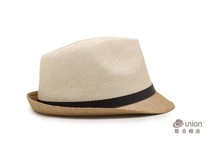 Cheap price free sample summer beach colorful fedora paper panama mens straw sun hats