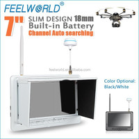 "FEELWORLD 7"" plastic fpv lcd monitor rc model aircraft kits with selection via button"