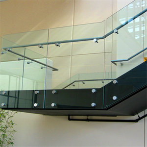 Stainless Steel Glass Portable Stair Railings with standoff