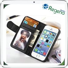 wholesale cell phone case good quality business style leather flip case for iphone 5s