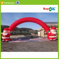 outdoor large inflatable christmas santa claus arch 7m wide