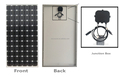 RS6T-M Series 330W-350W High Module Efficiency Mono Solar Panel Price Used in on-grid or off-grid