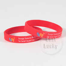 Debossed logo rubber band silicon bracelets for customized