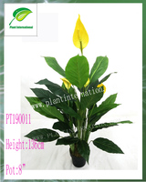 Artificial spathiphyllum with flowers plant for home/garden decoration