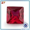 synthetic loose red ruby gemstone square corundum for sale cheap