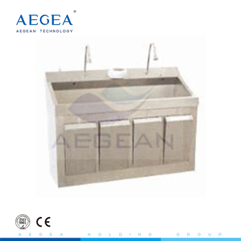 AG-WAS008 2 person hand washing stainless steel hospital sink