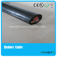 Water resistant submersible pump round rubber sheath cable JHS flexible copper conductor