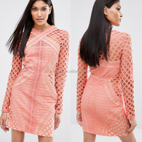 latest designs long sleeve western women formal dress wholesale bodycon fit fashion dress for ladies