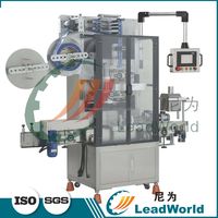 Automatic glass bottles bottleneck shrink sleeve labeling machine for olive oil