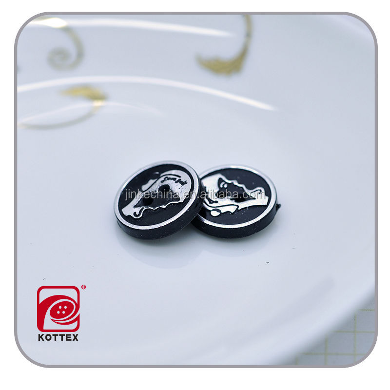 hot black plastic plating abs button,custom shirt button,black plastic button