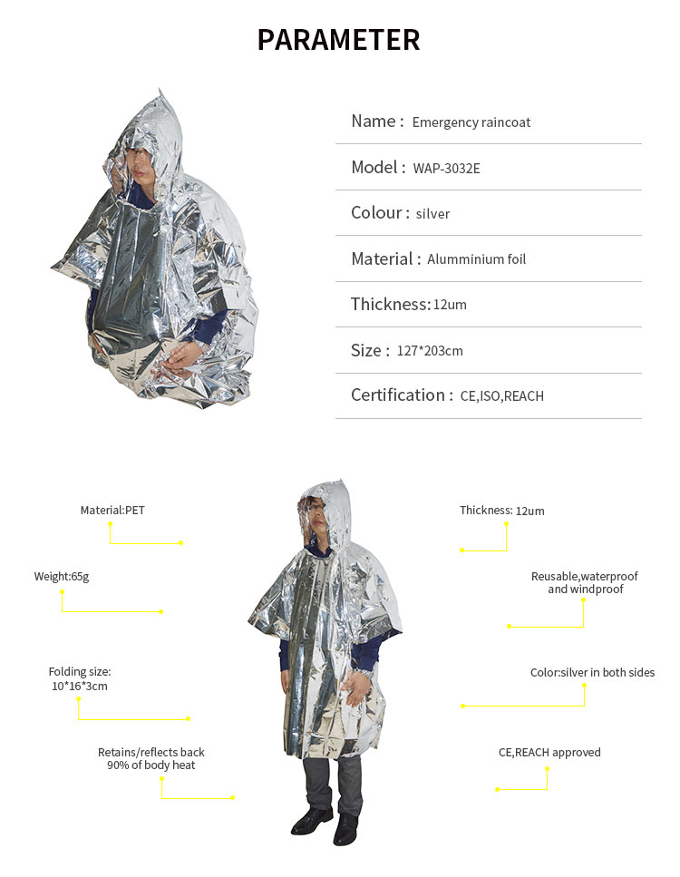 Trade Assurance WAP-health factory direct sale raincoat for first aid