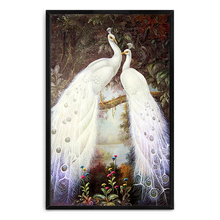 Best Price Hotel Wall Decoration Art High Quality Handmade Animal Peacock Oil Painting