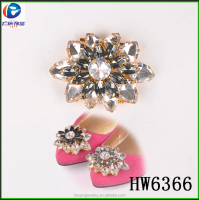 Hw6365 2015 new designs moveable decorative rhinestone embellished shoe buckles