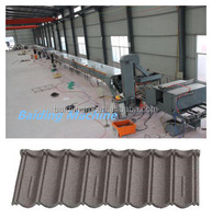 machine for making stone coated metal roof tile