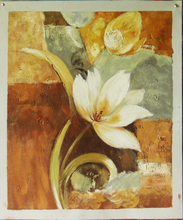 handmade home decor Artwork white orchid oil painting on canvas