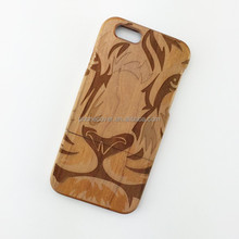 Hot Sale Creative Mobile Phone Cover For Iphone 6,Laser carving Wooden Mobile Phone Back Cover