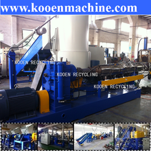 Dirty pepp bag plastic recycling washing and recycling pelletizing machine pellet