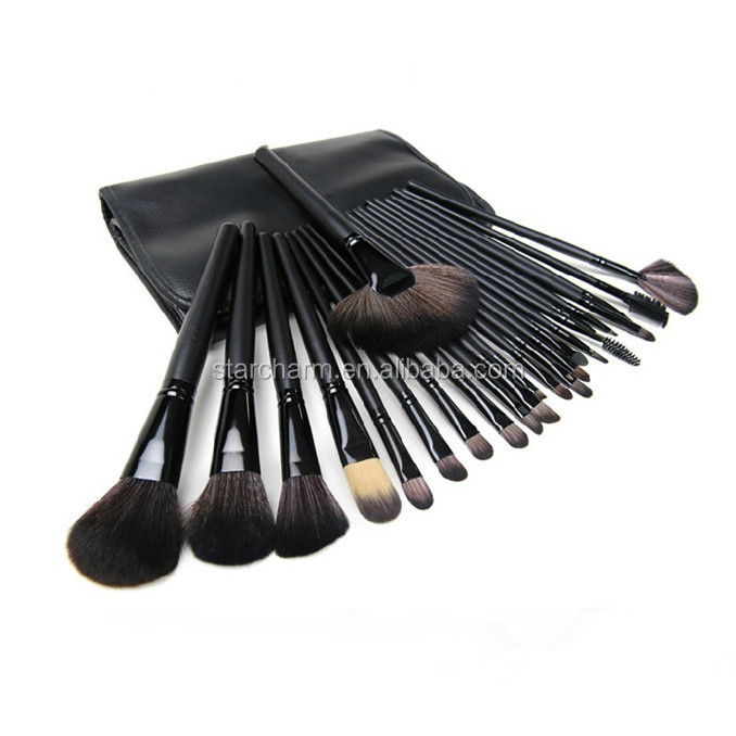 Brand new professional make up brushes,24pcs makeup brushes with waist bag