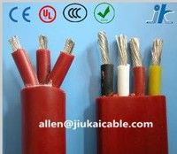 Oil/Water resistant Flat PVC/RUBBER 3/4 Core 1.5 square mm electric Submersible deep well Pump Cable