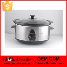 3.5L Slow Cooker with Glass Lid, Black Ceramic inner Pot