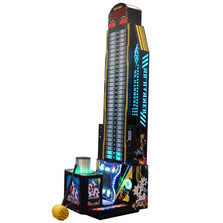 SQV factory supply arcade coin operated theme park lottery king of the hammer hit boxing machine game