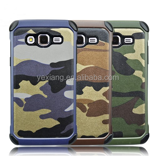 3 in 1 Army Camouflage Camo Hybrid Cover TPU + PC Phone Case for Samsung galaxy J5