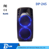 Dual 12 inch bluetooth wireless remote active portable usb speakers with light