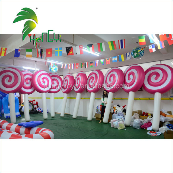 Customized Size Inflatable Lollipop Candy , Christmas Inflatable Candy