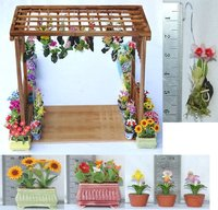 Clay Miniature Garden, Miniature Dollhouse Flowers