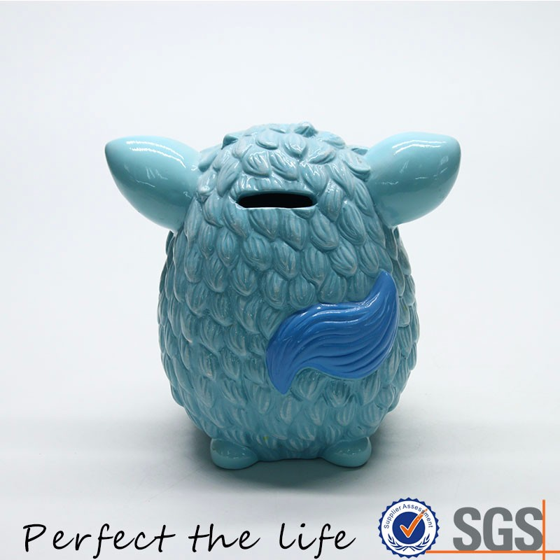 Ceramic owl money coin bank for decor