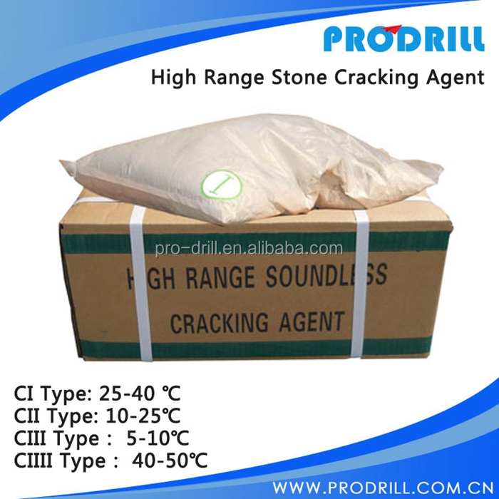 C3 type Quality High Range Soundless Cracking Agent , Non Explosive Demolition Agent