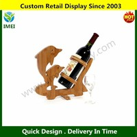 Kamay's Dolphin Shaped Folding Bamboo Wood Wine Rack YM5-679