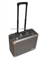 Professional Business Trip Aluminum Tool Trolley Case