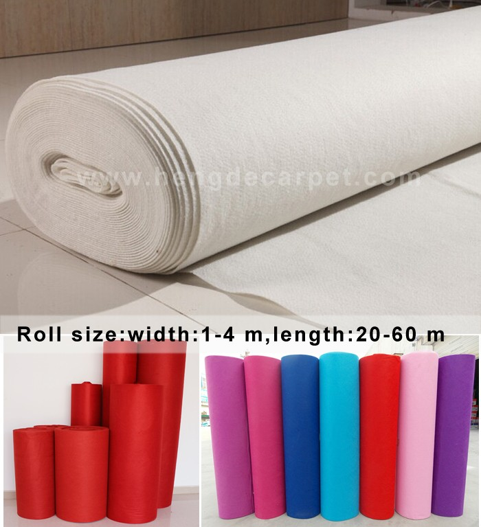 commercial white wedding plain exhibition carpet for banquet hall