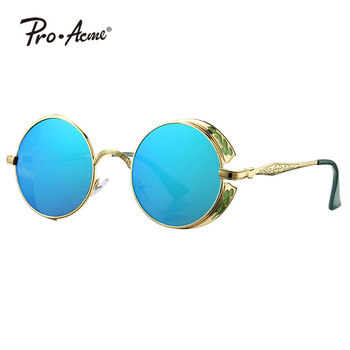 Pro Acme Vintage Hippie Metal Frame Round Steampunk Sunglasses PA0901