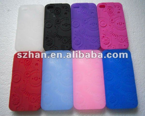 For iPhone 4S Case Luxury Pulley Silicone 3D Sculptural Series Cover