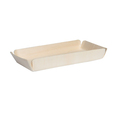 Disposable birch square wooden plate for home