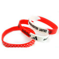 Beautiful custom 202*12*2 mm wristband thin silicone rubber bradcelet