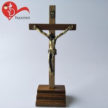crucifix figurine wooden religious christian gifts standing cross