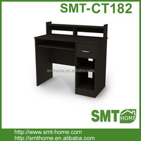 collection computer desk with storage drawer, black